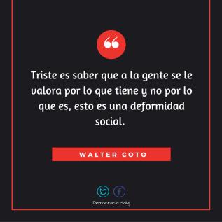 Walter coto frase